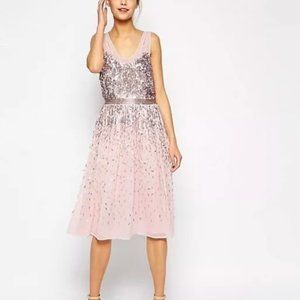 NWT FRENCH CONNECTION SHIMMER SHOWER DRESS